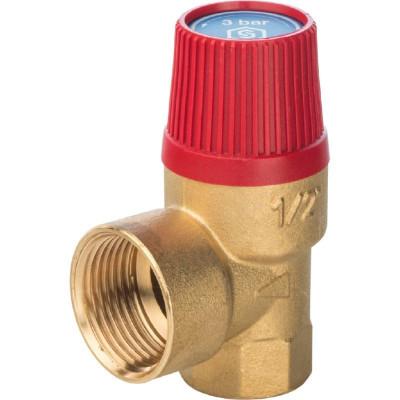 """Stout SVS-0001-003015 Клапан предохранительный 30 x 1/2"""" SVH для систем отопления (красная крышка)"""