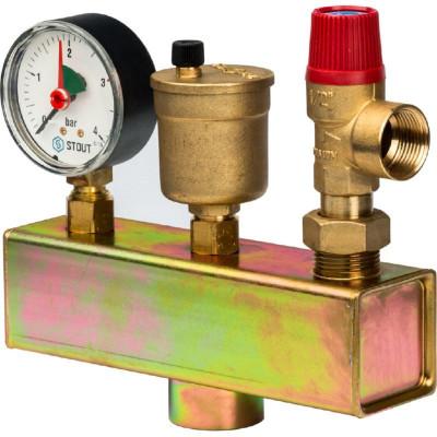 Stout SVS-0004-015025 Группа безопасности котла (до 50 кВт) (без теплоизоляции)
