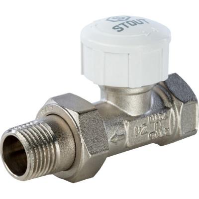 """Stout SVT 0001 000015 Клапан термостатический, прямой 1/2"""""""